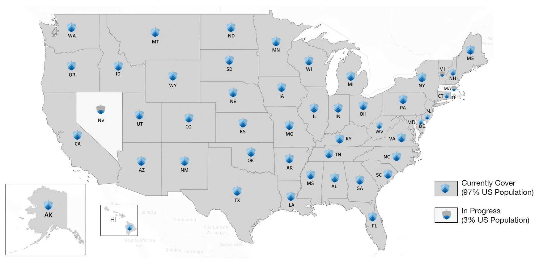 Acorn States Coverage Map